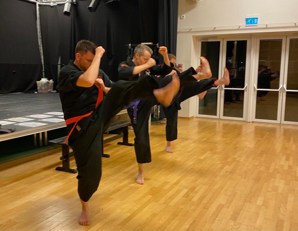 Malthe Karlsson, Peder Møller Wagner, Kim Dahl and Kent Lund Simonsen. Kenpo Kicking Set.